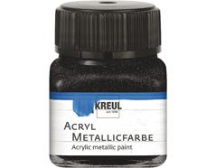 K77285 Pintura acrilica metalica negro C Kreul