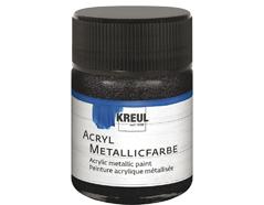 K77585 Pintura acrilica metalica negro C Kreul