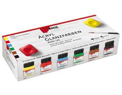 K79600 Set 6 botes pintura acrilica brillante Hobby line