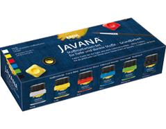 K90598 Set 6 botes pintura para textil opaca Javana tex