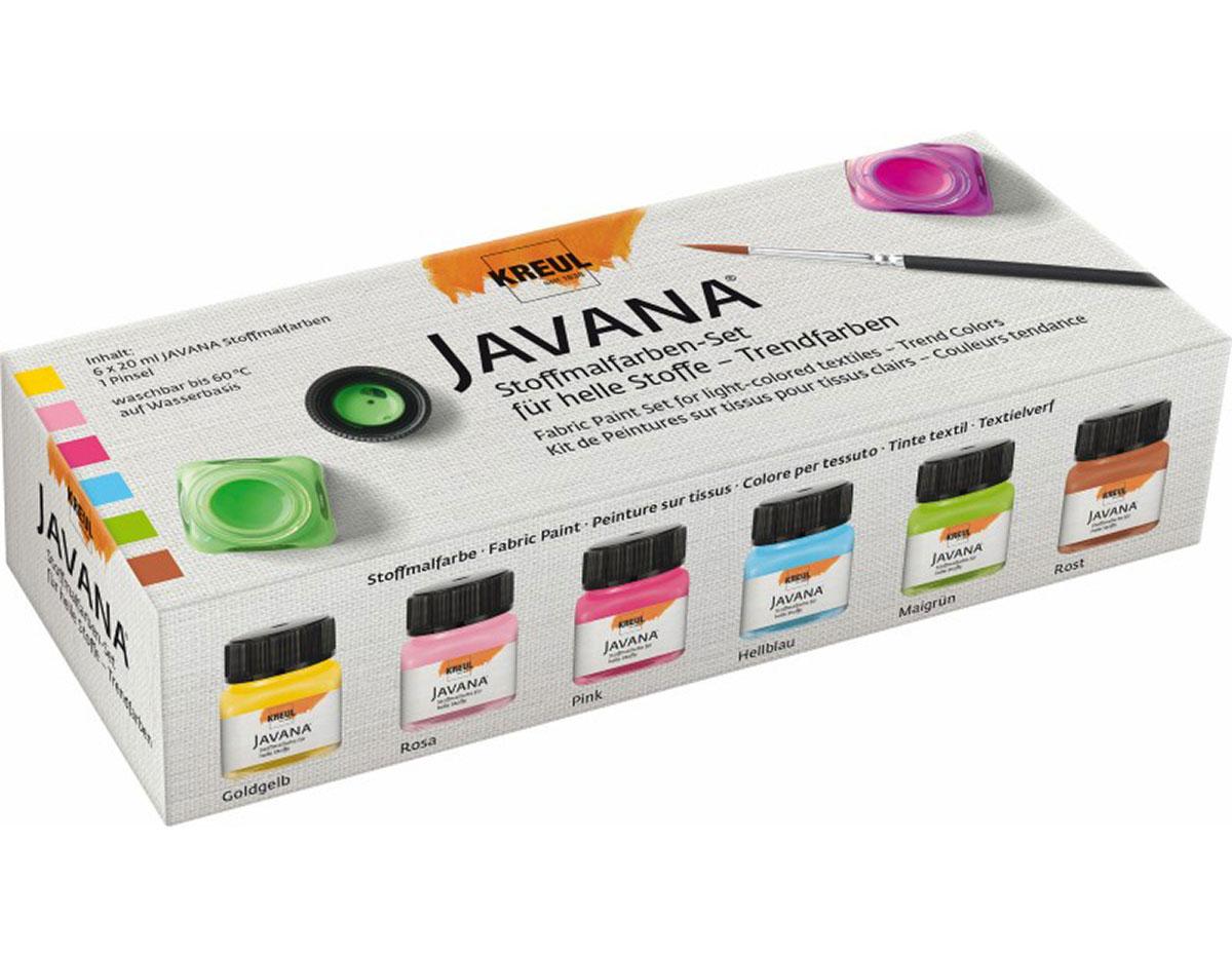 K90599 Set 6 botes pintura para textil translucida fresh colors Javana tex