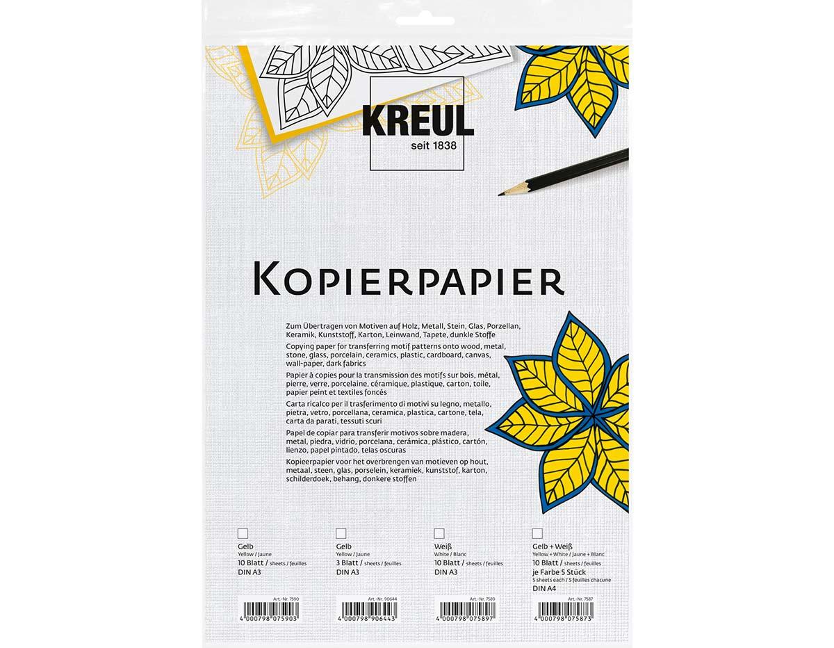 K90644 Hojas de papel para copiar DIN A3 amarillo Javana