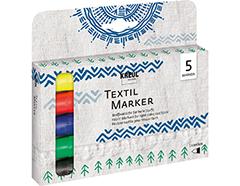 K90710 Set 6 rotuladores para textil translucidos punta bala Javana tex