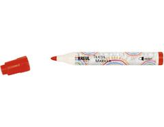 K90762 Rotulador para textil translucido rojo primario punta bala Javana tex