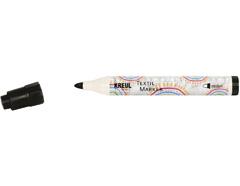 K90771 Rotulador para textil translucido negro punta bala Javana tex
