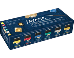 K92400 Set 6 botes pintura para textil efecto metalico Javana tex