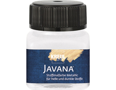 K92401 Pintura para textil efecto metalico blanco Javana tex