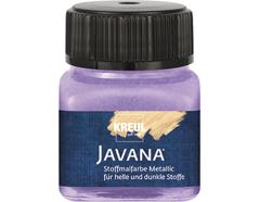 K92409 Pintura para textil efecto metalico lila Javana tex