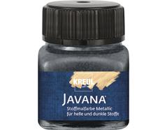 K92414 Pintura para textil efecto metalico antracita Javana tex