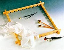 K950-BRN1 Bastidor madera ajustable Javana tex