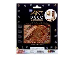 K99404 Hojas de metal ART DECO motivos florales color oro rojo Home design