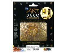 K99405 Hojas metal ART DECO motivos florales oro azul Home design
