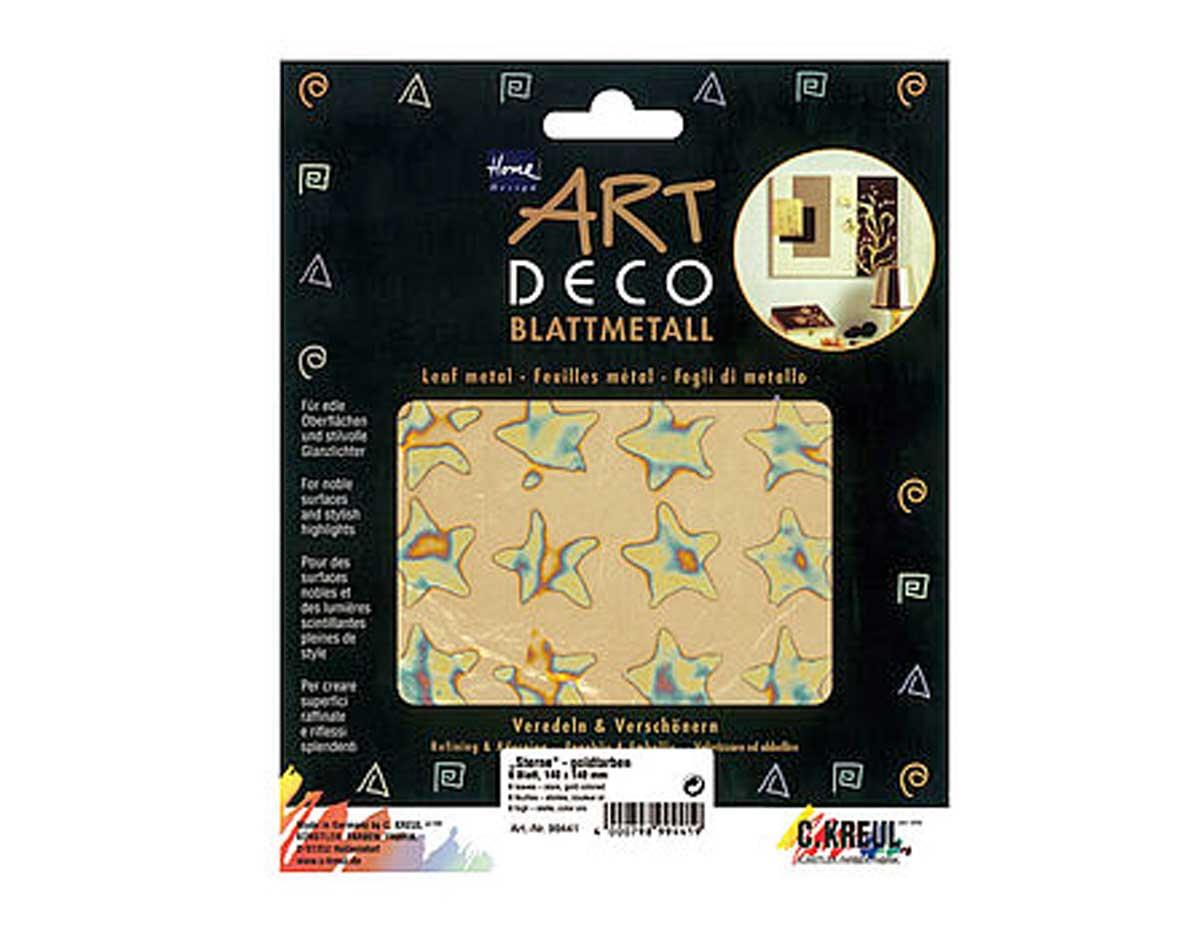 K99441 Hojas policromado ART DECO estrellas color oro Home design