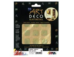 K99442 Hojas policromado ART DECO cuadrados color oro Home design