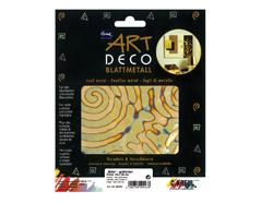 K99443 Hojas policromado ART DECO retro color oro Home design