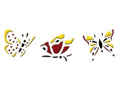 KB13003 Plantilla efecto 3D 3 mariposas Home design