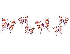 KB13011 Plantilla efecto 3D mariposas Home design