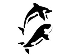 KB13019 Plantilla efecto 3D delfines Home design