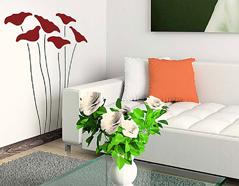 KB6001 Plantilla autoadhesiva flores fantasia XXL Home design