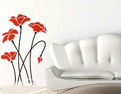 KB6003 Plantilla autoadhesiva amapolas XXL Home design