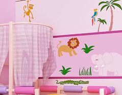 KB6012 Plantilla autoadhesiva fauna encantadora XXL Home design