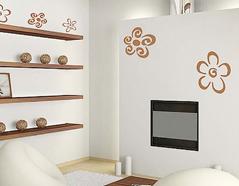 KB6013 Plantilla autoadhesiva flores XXL Home design