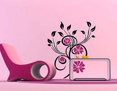 KB6017 Plantilla autoadhesiva flores magicas XXL Home design