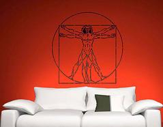 KB6019 Plantilla autoadhesiva anatomia XXL Home design