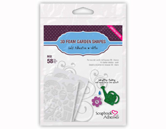 L01218 Adhesivo espuma 3D formas del jardin blanco Scrapbook Adhesives by 3L