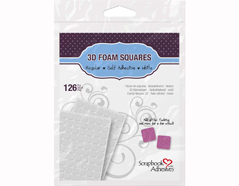 L01610 Adhesivo espuma 3D cuadrados blanco Scrapbook Adhesives by 3L - Ítem