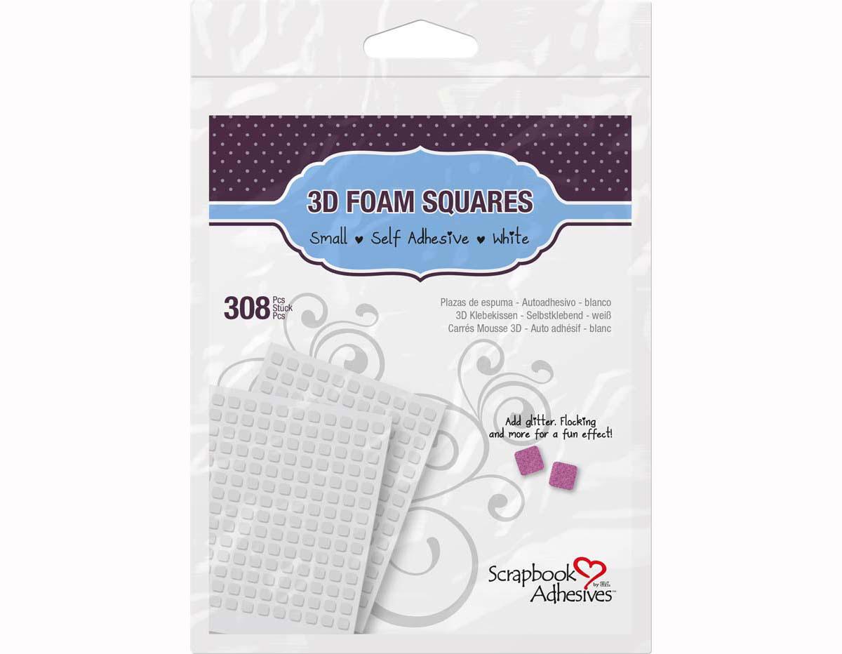 L01612 Adhesivo espuma 3D cuadrados blanco Scrapbook Adhesives by 3L