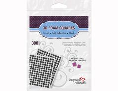 L01613 Adhesivo espuma 3D cuadrados negro Scrapbook Adhesives by 3L - Ítem
