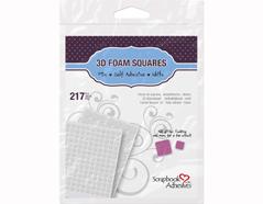 L01614 Adhesivo espuma 3D cuadrados blanco medidas surtidas Scrapbook Adhesives by 3L