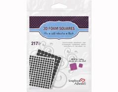 L01615 Adhesivo espuma 3D cuadrados negro medidas surtidas Scrapbook Adhesives by 3L