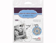 L01627 Esquinas adhesivas papel plata Scrapbook Adhesives by 3L