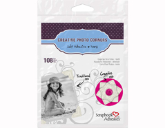 L01629 Esquinas adhesivas papel ivory Scrapbook Adhesives by 3L