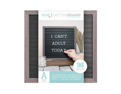 LB-006-00001 Tablero con 188 letras marco gris Letter Board Gray Frame DCWV - Ítem