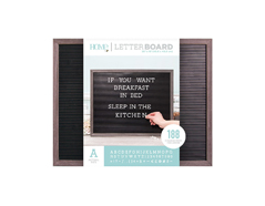 LB-006-00021 Tablero con 188 letras marco gris Letter Board Gray Frame DCWV