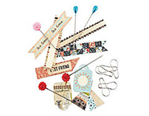 LCL-3843 LUCILLE - PINS AND TAGS Basic Grey