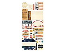 LCL-3869 LUCILLE - STICKER SHAPES Basic Grey