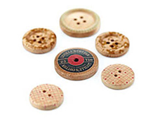 LCL-3870 LUCILLE - WOODEN BUTTONS Basic Grey