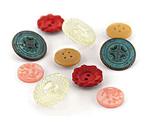 LCL-3872 LUCILLE - VINTAGE BUTTONS Basic Grey