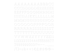 LP-006-00015 Set 188 letras Letter Pack White para Letter Board DCWV