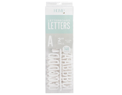 LP-006-00016 Set 148 letras Letter Pack White para Letter Board DCWV