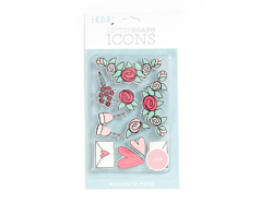 LP-006-00032 Set 10 iconos Icon Pack Love para Letter Board DCWV