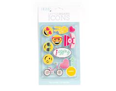 LP-006-00034 Set 11 iconos Icon Pack Happy para Letter Board DCWV - Ítem
