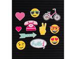 LP-006-00034 Set 11 iconos Icon Pack Happy para Letter Board DCWV - Ítem2