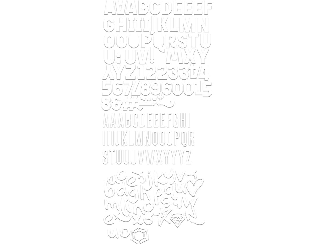 LUX-5038 Surtido de letras recortadas URBAN LUXE Basic Grey