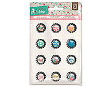 MET-4140 MINT JULEP - BOTTLE CAP STICKERS Basic Grey