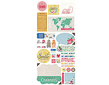 MIN-4137 MINT JULEP - 5X12 TITLE STICKERS Basic Grey